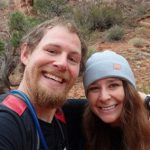 happy couple hiking out doors free from addiction. Call Jeff to learn about addiction in the family